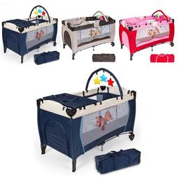 Portable folding baby crib play bed travel baby multifunctio