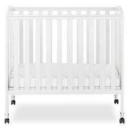 Portable Folding Convertible Crib - Finish: White