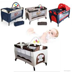 Portable Infant Child Baby Travel Cot Bed Playpen Bassinet E