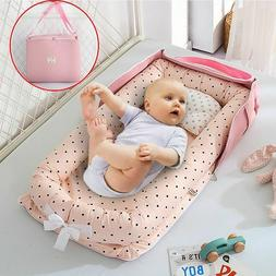 Portable Newborn Baby Cot Nest Bed for Boys/Girls Crib Trave