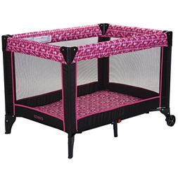 Portable Playard for  with Feet & Wheels Folding Durable Fra