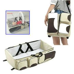 Portable Travel Baby Bed Diaper Bag Bassinet Nappy Changing