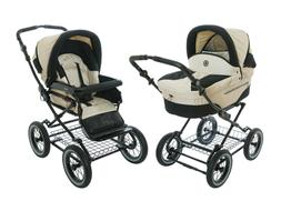 Roan Rocco Pram Stroller 2-in-1 with Bassinet and Seat - Gra