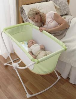 Fisher Price Deluxe Rock 'n Play Portable Baby Bassinet, Gre