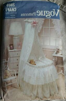 Sewing Pattern Vogue 2869 Baby's Bassinet Accessories