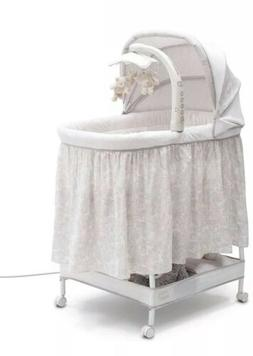 Simmons Kids Silent Auto Gliding Deluxe Bassinet Embossed Pa