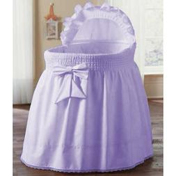 aBaby Smocked Bassinet Skirt, Lavender, Small