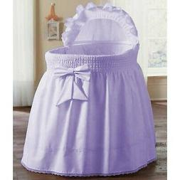aBaby Smocked Bassinet Skirt, Lavender, Large