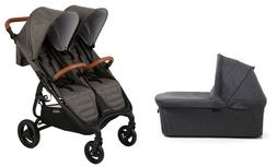 Valco Snap DUO Trend Stroller and Bassinet in Charcoal Brand