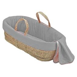 bkb Solid Color Moses Basket, Grey