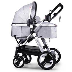 Cynebaby Baby Stroller Pram Convertible Baby Carriage Luxury