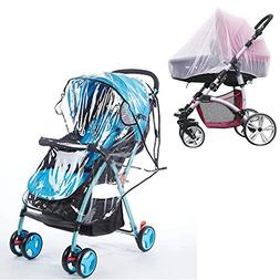 Stroller rain Cover Universal Insect Mosquito net rain Cover