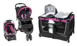 Baby Trend Stroller Travel System with Car Seat Playard Crib