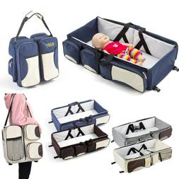 Stylish 3 in 1 Diaper Tote Bag Travel Bassinet Nappy Changin