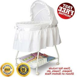 Sweet Beginnings Bassinet with Washable Fitted Mattress Shee