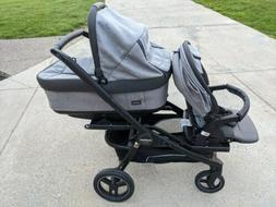 Peg Perego Team Stroller with Bassinet, Toddler Seat Plus Do