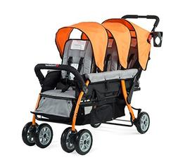 Foundations Trio Sport Tandem Stroller Orange