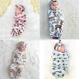 US Newborn Infant Baby Swaddle Cocoon Wrap Warm Covers Blank