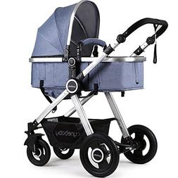 US Ship Anti-Shock Newborn Baby Pram Stroller Luxury Reversi