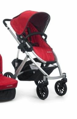 uppababy vista stroller and bassinet - denny red - new