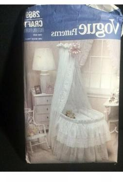 VOGUE Sewing Pattern 2869 Baby Bassinet Accessories Comforte