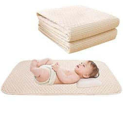 Baby Waterproof Bed Pad Organic Cotton Mattress Protector Re