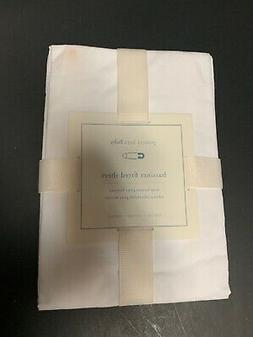 Pottery Barn Kids White Cotton Bassinet Fitted Sheet Nursery