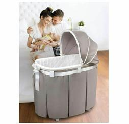 Badger Basket Wishes Oval Bassinet with Full Length Skirt -