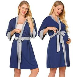 Women's Maternity Nightgowns,Adjustable Belt Delivery/Labor/