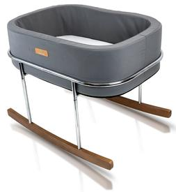 Wonderfold  Modern Design Gentle Rocking Baby Bassinet Cradl